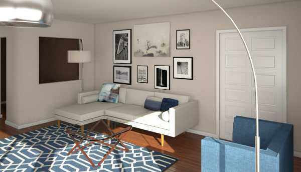 interior design living room decor Before & After: Mid Century Modern Living Room Design