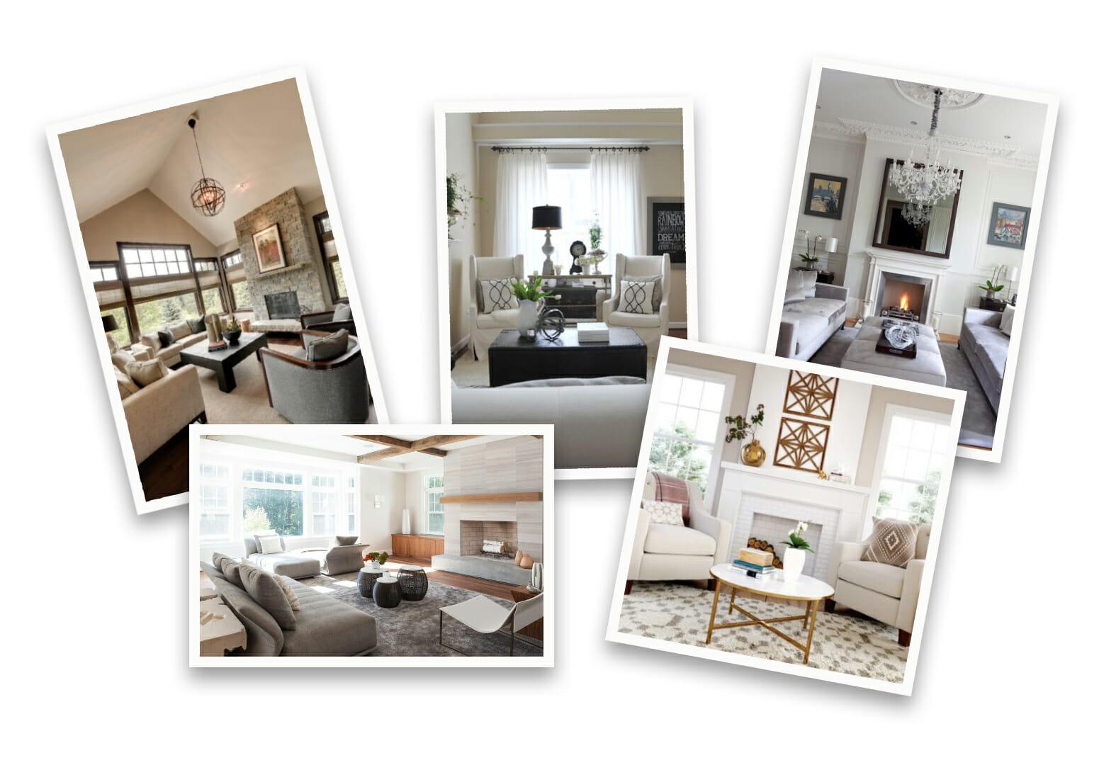 Before & After: Elegant Transitional Online Living Room