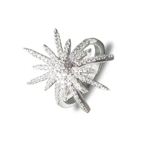 Prekrasan srebrni prsten s cirkonima u obliku zvijezde internet trgovina webshop srebrni nakit besplatna dostava