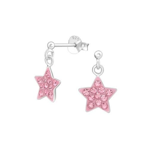 srebrne naušnice zvijezde