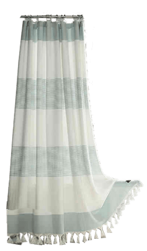 ugg napa 72 inch square yarn dyed stripe shower curtain in agave