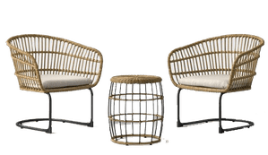 southport 3pc wicker motion patio chat set project 62