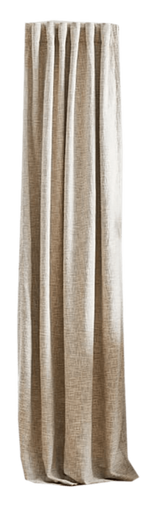 textured weave curtain blackout panel ivory 48 x96