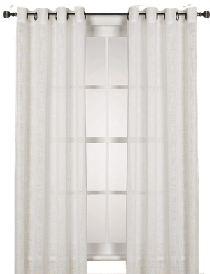 alton solid grommet 108 inch window curtain panel in white