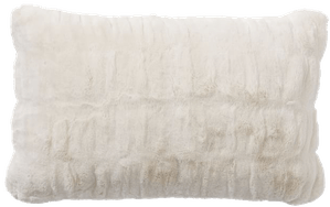 faux fur ruched pillow covers ivory ruched 16 x26
