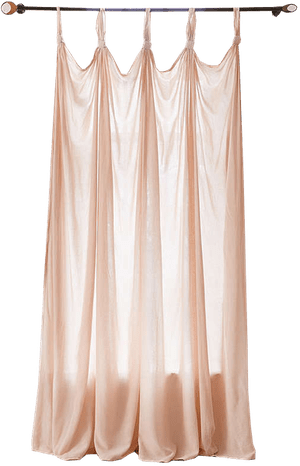 knotted window curtain 52x84 blush