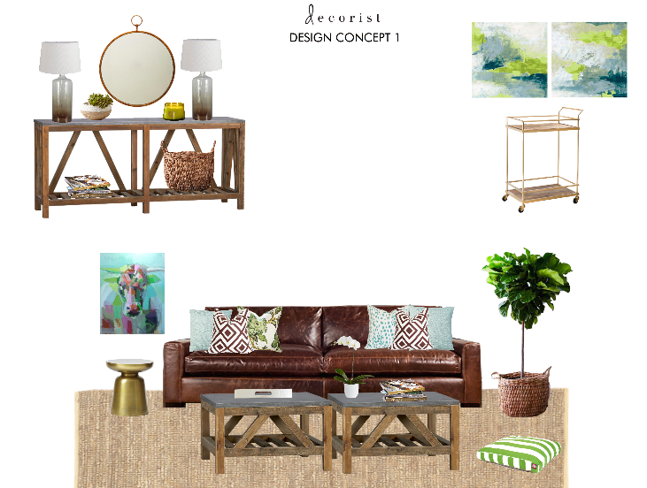 For Concept 1, Audrey Wrote: In This First Design Concept, The Bright  Greens And Aqua Blues Of Your Fig Tree And Gorgeous Painting Are  Highlighted In The ...
