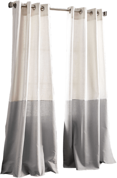 dkny color band 95 inch grommet top window curtain panel in grey