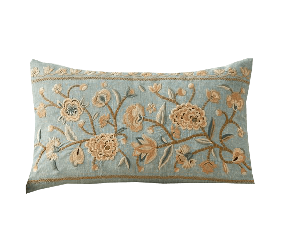 kensley embroidered lumbar pillow cover