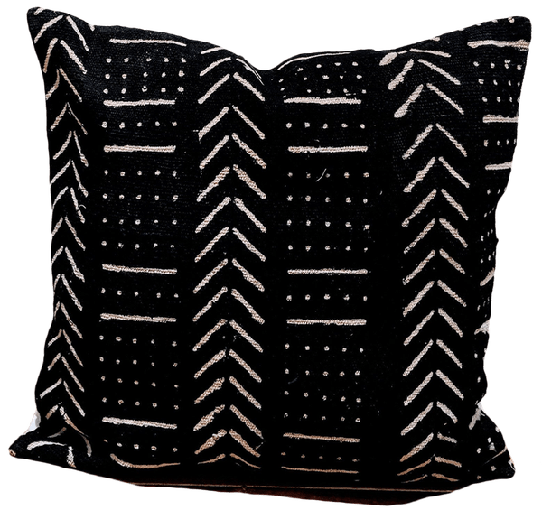 black african mud cloth pillow cover
