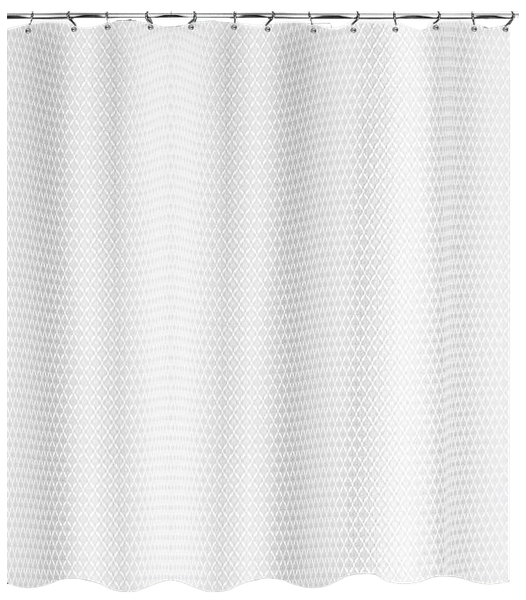avalon 70 inch x 84 inch shower curtain in white long