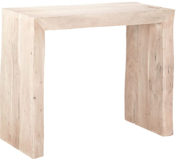 blanche bleached acacia console table