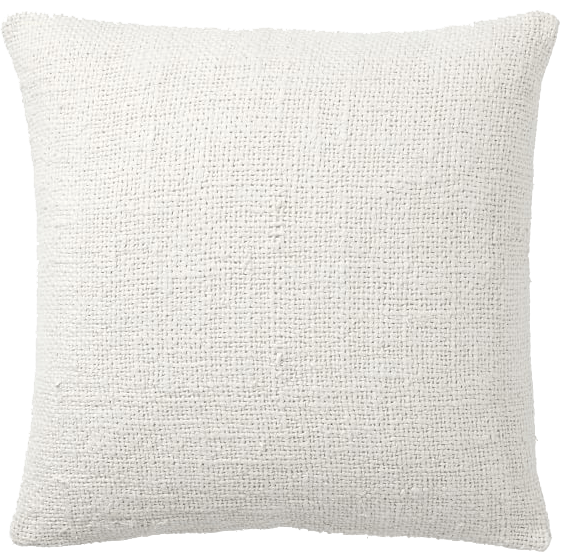 faye textured linen pillow cover ivory