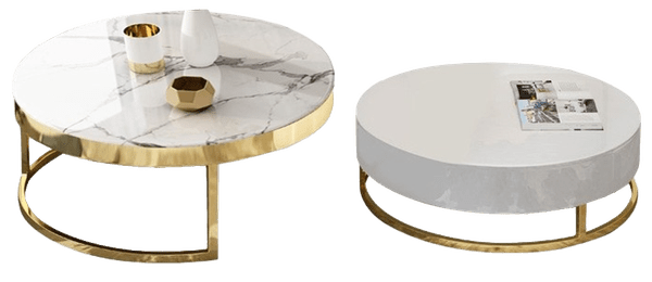 modern round coffee table with storage lift top wood coffee table with rotatable drawers in marble white