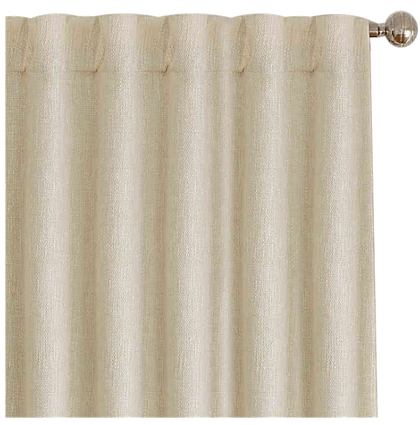 colton 95 inch rod pocket back tab window curtain panel in ivory
