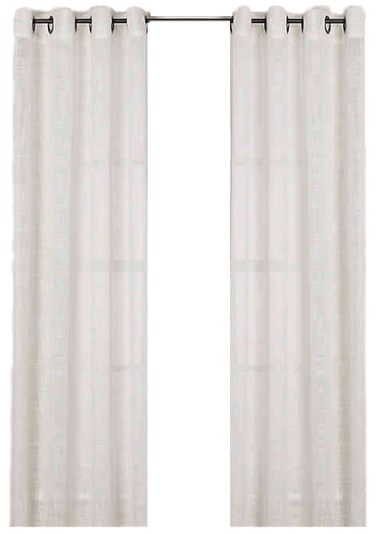 alton solid grommet 84 inch window curtain panel in white