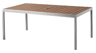 threshold bryant faux wood rectangular patio dining table