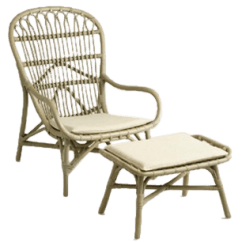 Rattan Wingback Chairs Childrens Personalized Gray Chair And Ottoman Decorist