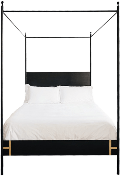 josephine bed four poster queen black iron canopy bed