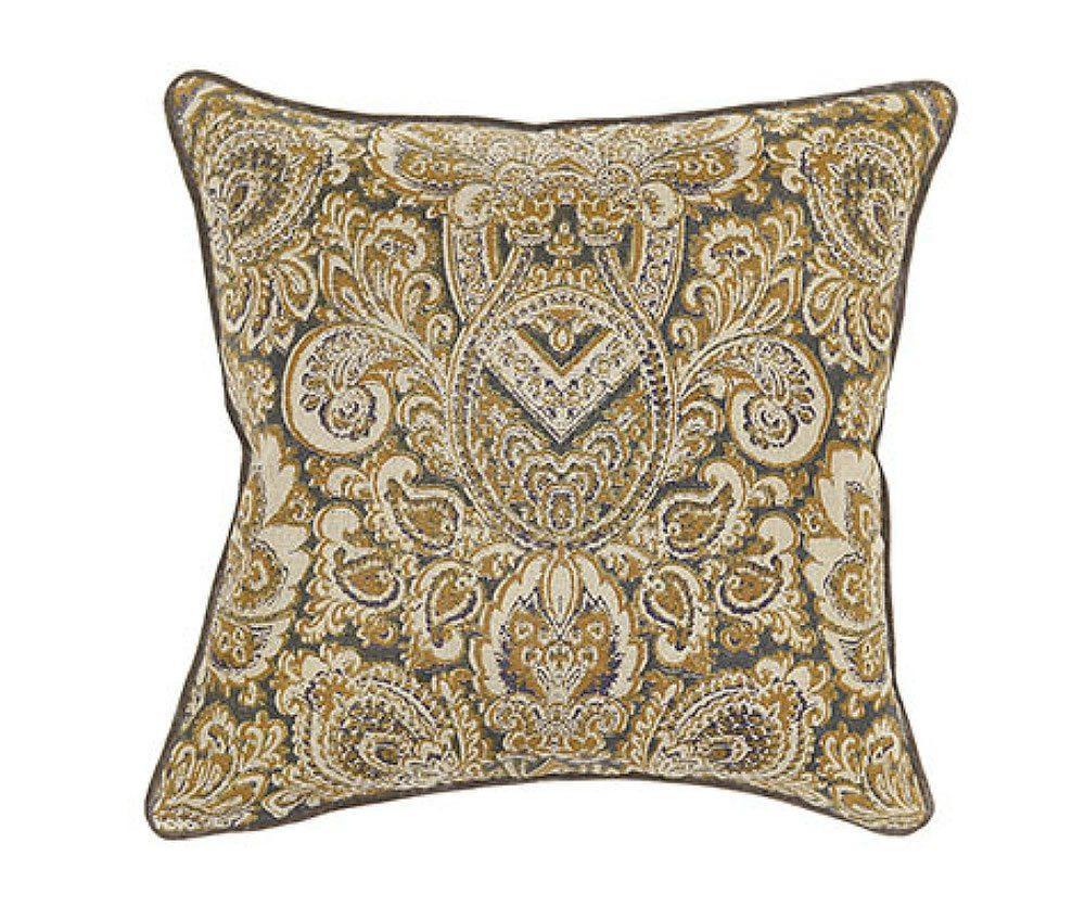 Textured Hue Turkish Gold Accent Pillow  Decorium Furniture