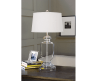 Flat Urn Table Lamp - Decorium Furniture