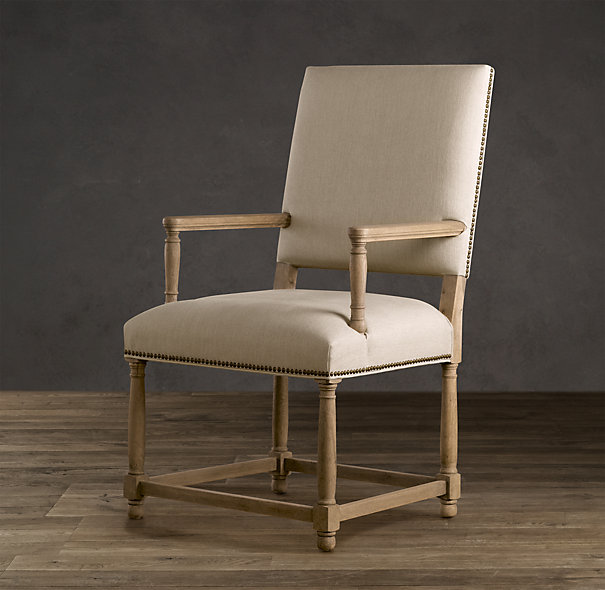 Restoration Hardware Empire Parsons Upholstered Armchair