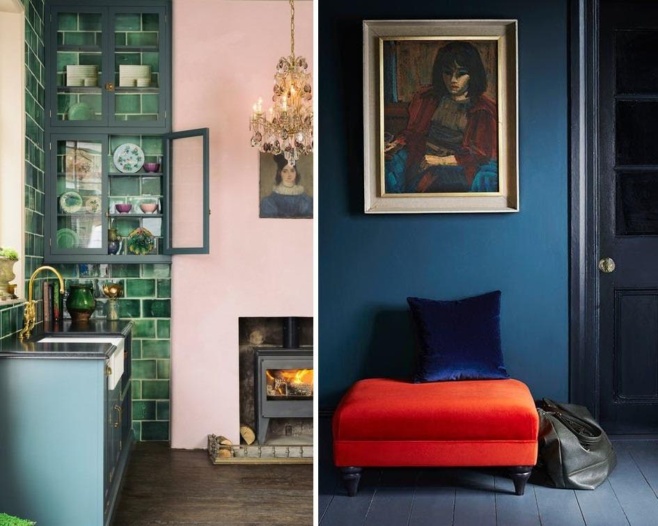 Jak dobrać kolory do mieszkania kontrastowe - koło barw