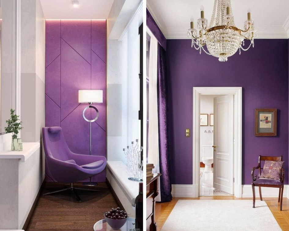 utlra violet we wnętrzach