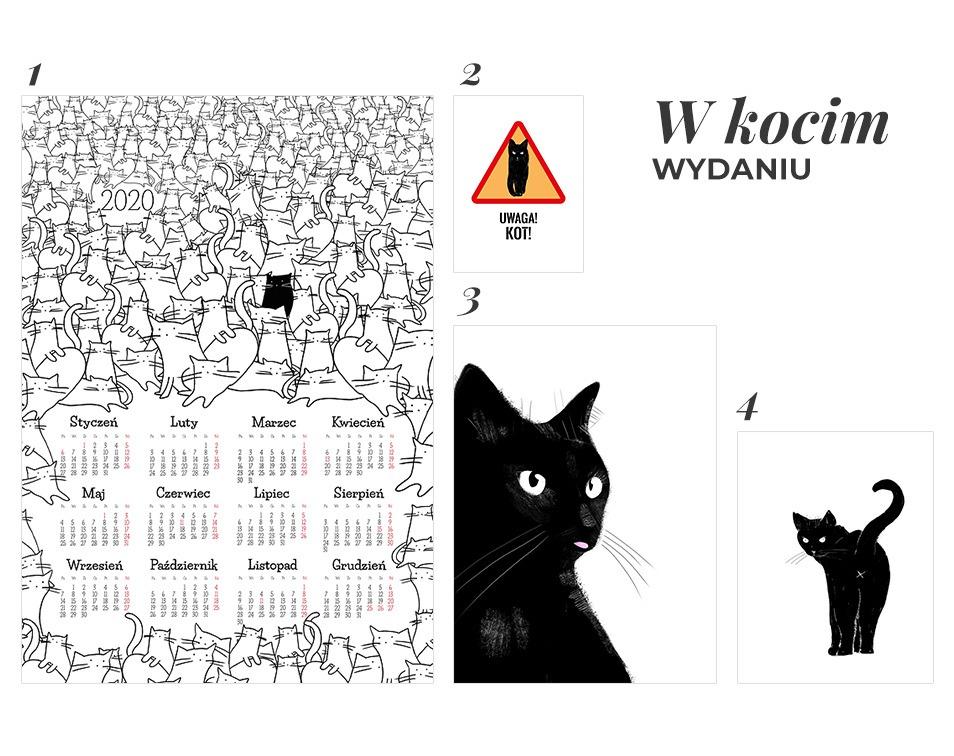 Pomysły na prezent w formie dekoracji na ściany z czarnymi kotami