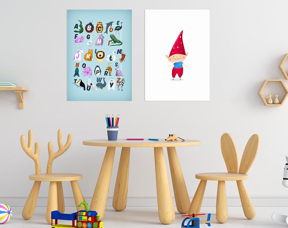 Pokój rodzeństwa plakaty do miejsca zabaw
