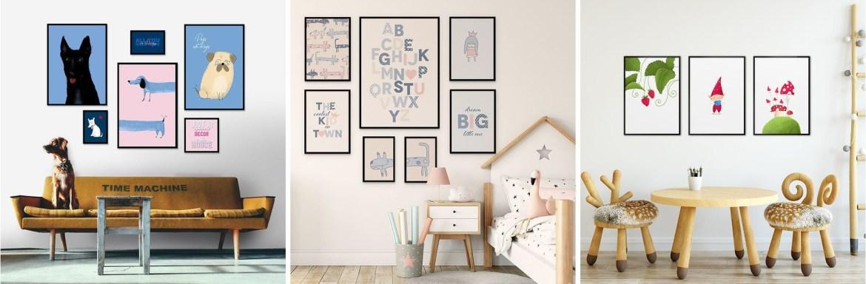 galeria-ścienna-w-dziecięcym-stylu