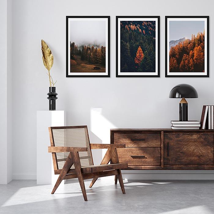 galeria-Las-w-sypialni-jesienny-las-decor-mint