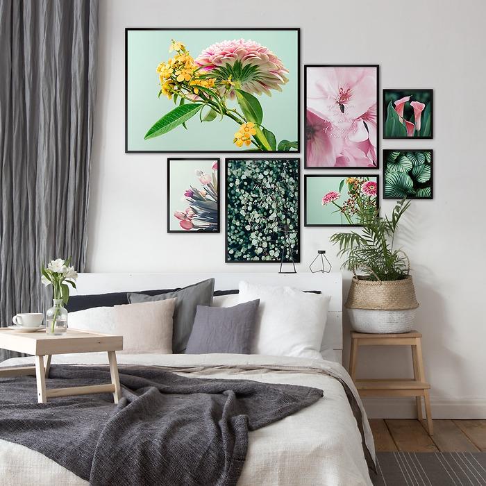 wiosenne-dekoracje-ścienne-galeria-do-sypialni