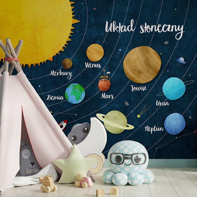 Fototapeta z układem słonecznym dla dzieci