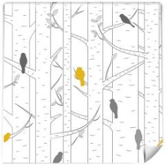 tapeta-do-salonu-drzewa-z-ptakami