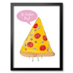 obraz-w-ramie-pizza-z-napisem