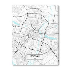 obraz-na-plotnie-plan-miasta-poznań