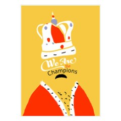 plakat-zespol-queen-we-are-the-champions