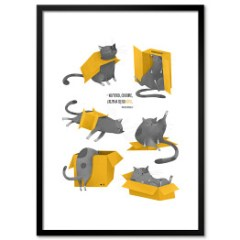 koty-lubia-kartony-plakat-w-ramie