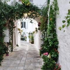 Piękny widok malowniczej wąskiej uliczki we Włoszech