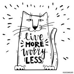 Pozytywne przesłanie z kotem