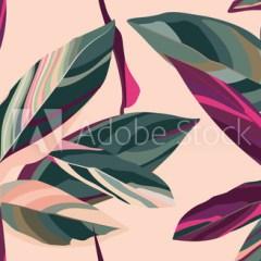 drzewo-z-czerwonymi-liśćmi-różowe-tło