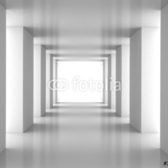 Tunel z białą ścianą