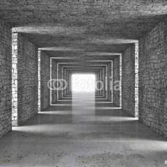 ciemny-korytarz-3d-fototapeta