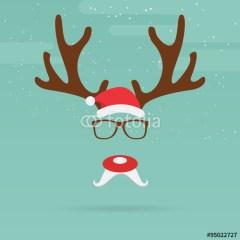 ozdoby-świąteczne-bożonarodzeniowe-z-reniferem-plakat