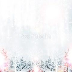 zimowy-las-fototapeta-na-ścianę-na-boze-narodzenie