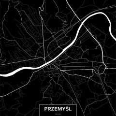 Mapa Przemyśla czarno-biała