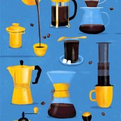 sposoby-parzenia-kawy-ilustracja-plakat-na-sciane