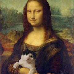 mona-lisa-koty-sztuka-na-wesolo-plakat-w-ramie