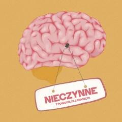 Ilustracja - mózg z podpisem